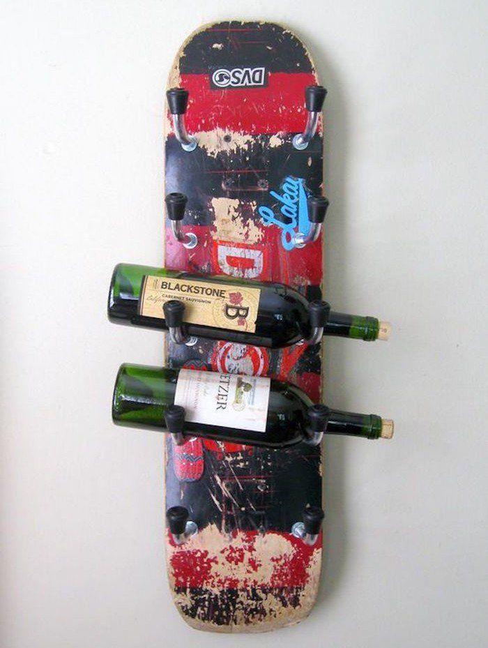 ▷ 1001+ idées pour transformer sa planche en étagère skateboard
