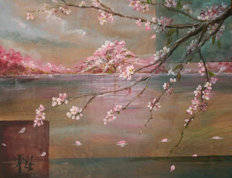 Japanese Cherry Blossom Fine Wall Art