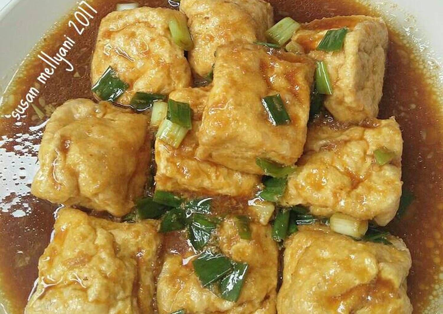 Resep Golden Tofu Oleh Susan Mellyani Resep Di 2020 Tumis Resep Saus Tiram
