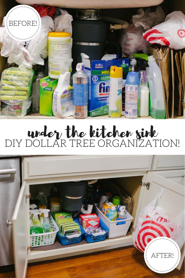 under the kitchen sink organization diy dollar tree diy organization under kitchen sink on do it yourself kitchen organization id=20302