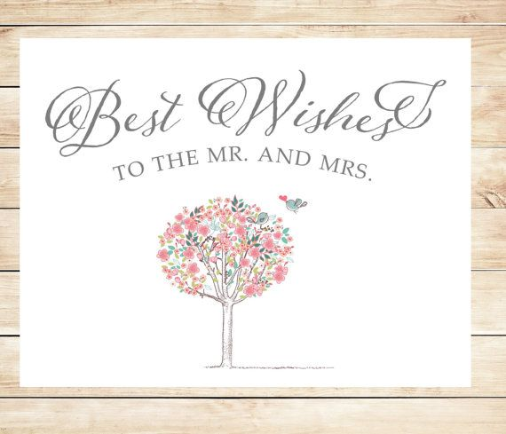 Wedding Card Wishes.Printable Best Wishes Wedding Card Instant Download Card