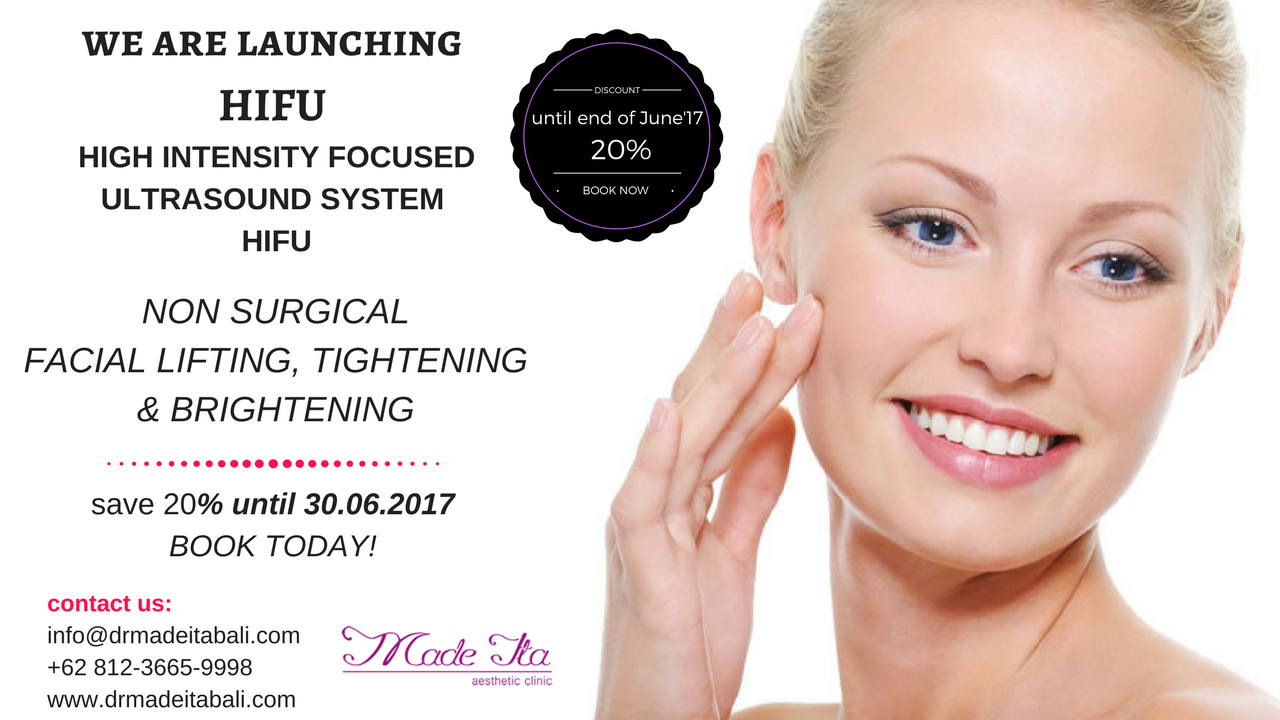 Please do not miss the Launch of our HIFU treatments & GET your 20