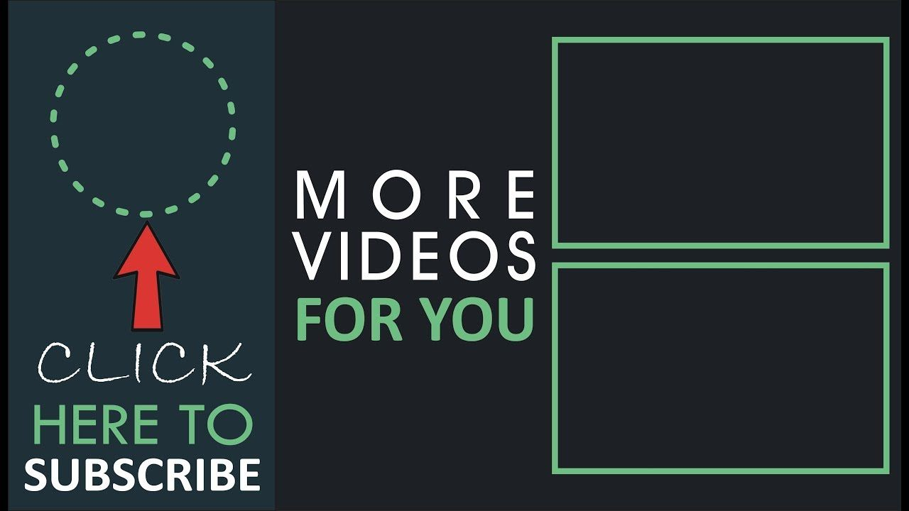 Youtube Outro Endscreen Template Free Download Endscreen No Text Template Free Templates Free Download Templates