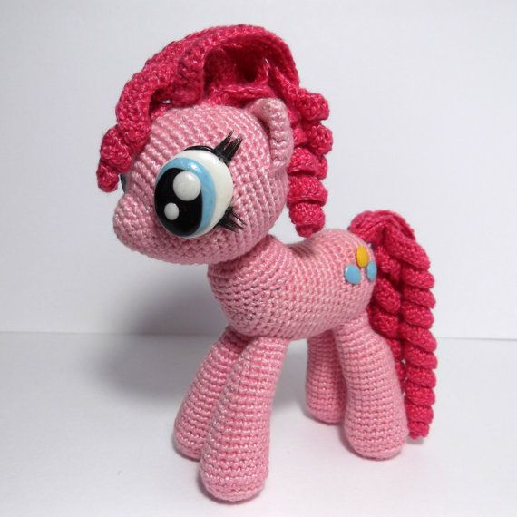 Pinkie Pie - de ganchillo mi juguete Litte Pony