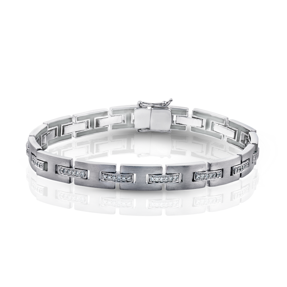 MB1102 White Bangle Bracelet by Simon G Jewelry