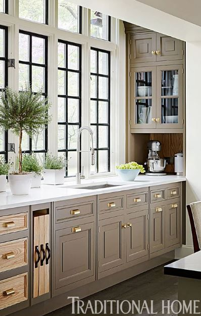 Poised Taupe Kitchen Taupe Kitchen Cabinets Taupe Kitchen Kitchen Remodel