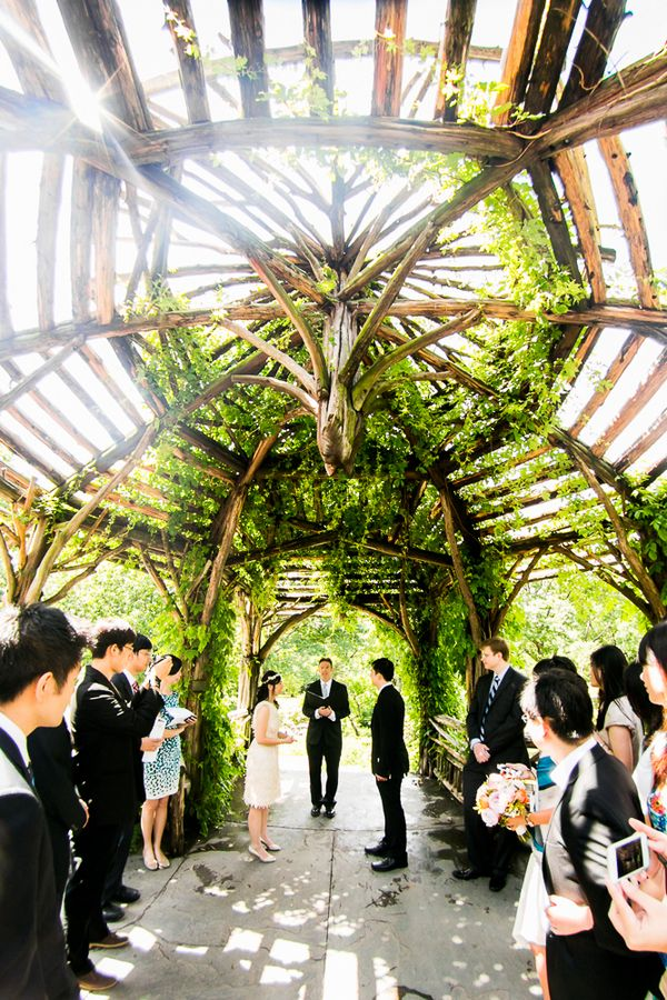 Estelle Bo S Intimate Central Park Wedding With Lunch Reception At Public