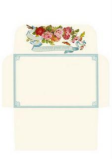 Make Your Own Rose Envelope  Printable Free Pdf Really Cute