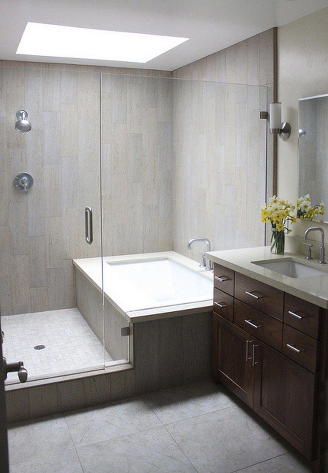 99 Small Master Bathroom Makeover Ideas On A Budget (65) | Home ...