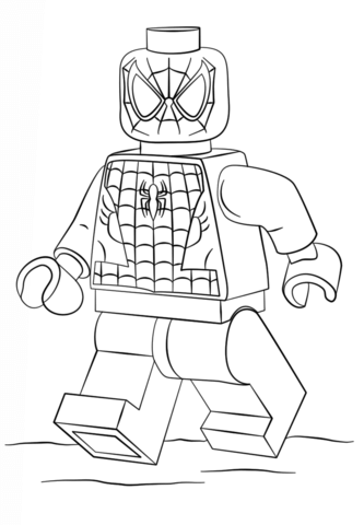 Ninja Spiderman Coloring Pages Background