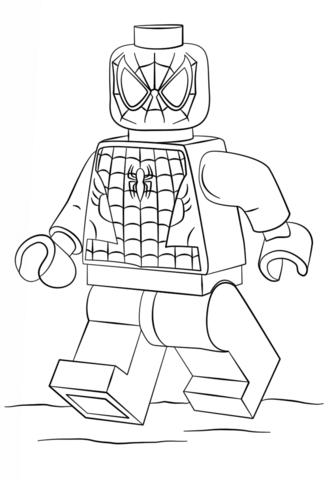 Lego Spiderman Coloring page  Cuadros nios  Pinterest  Lego