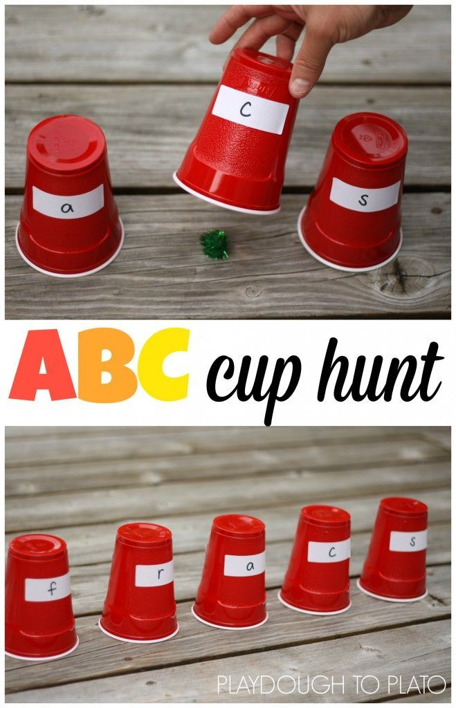Abc Cup Hunt  Alphabet Games Math Facts And Math