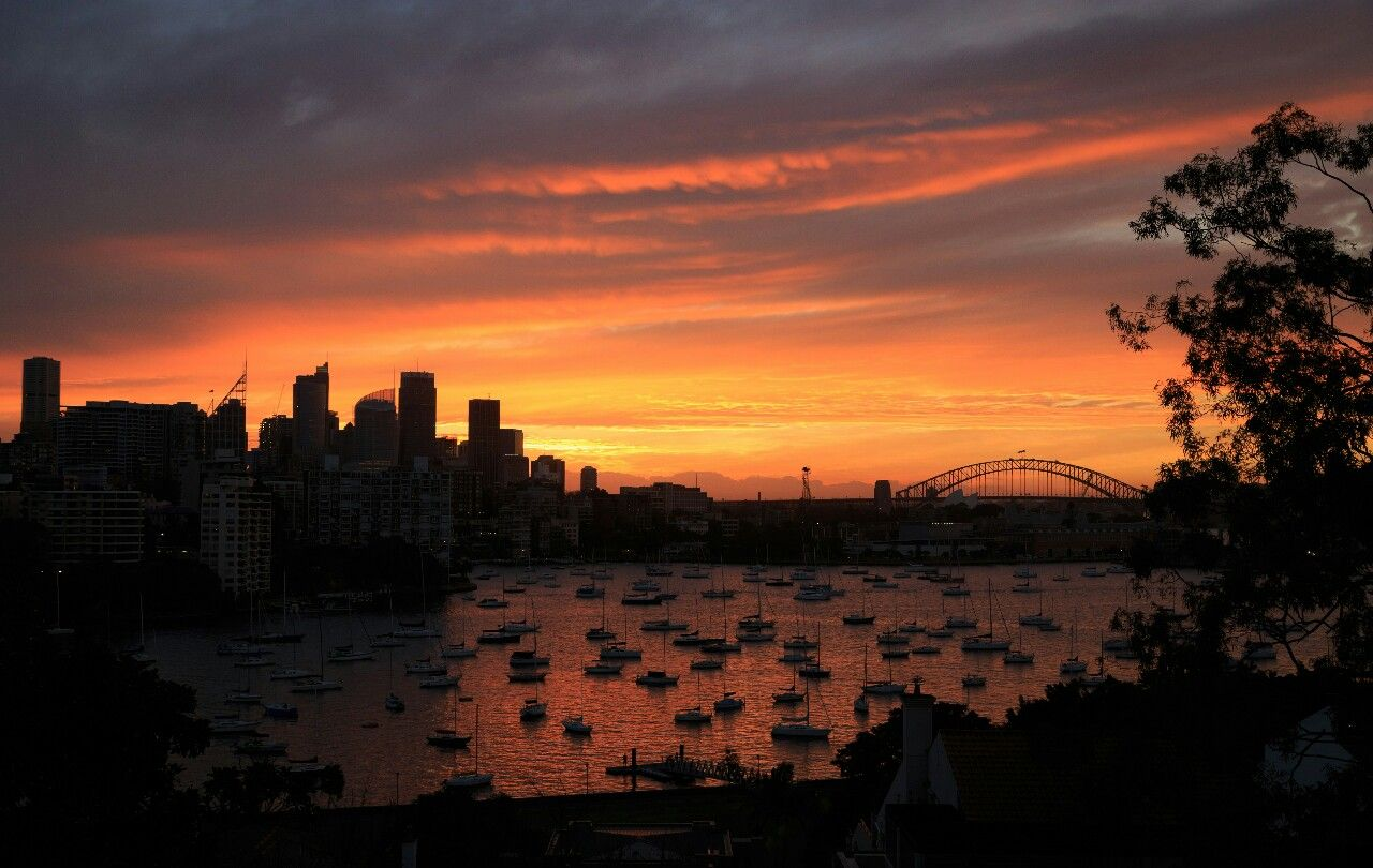 Sydney Harbour sunset from Darling Point. One of my favourite views in the world!
