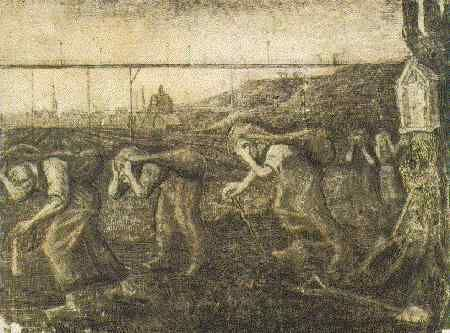 Brussels 1881 Miners' Women Carrying Sacks (The Bearers of the Burden) (Otterlo museum)
