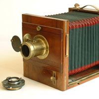 Wooden Sliding Box Camera Daguerreotype Vintage Antique Cameras