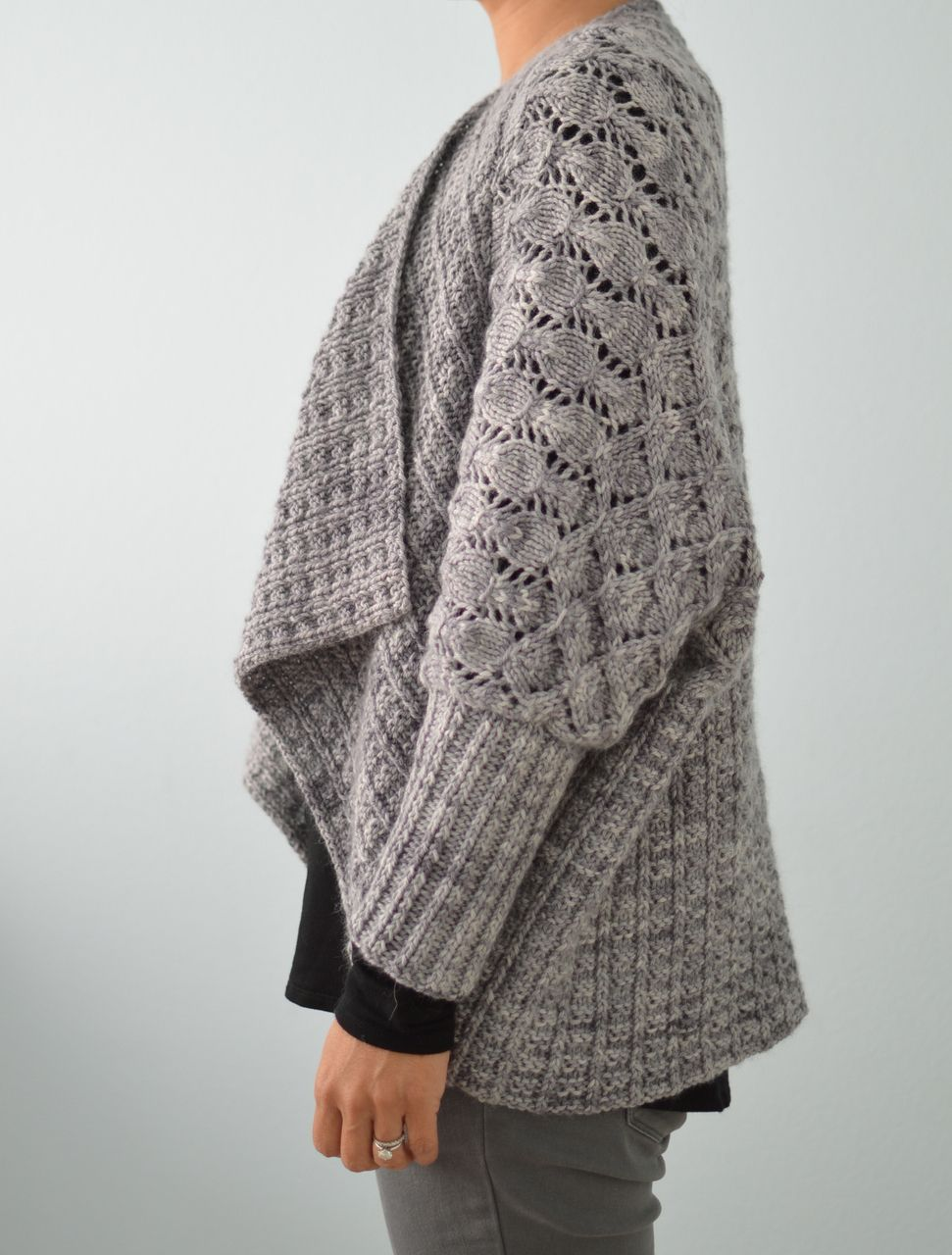 205 Two-Way Wrap Cardigan PDF Knitting Pattern | Pinterest | Wrap ...