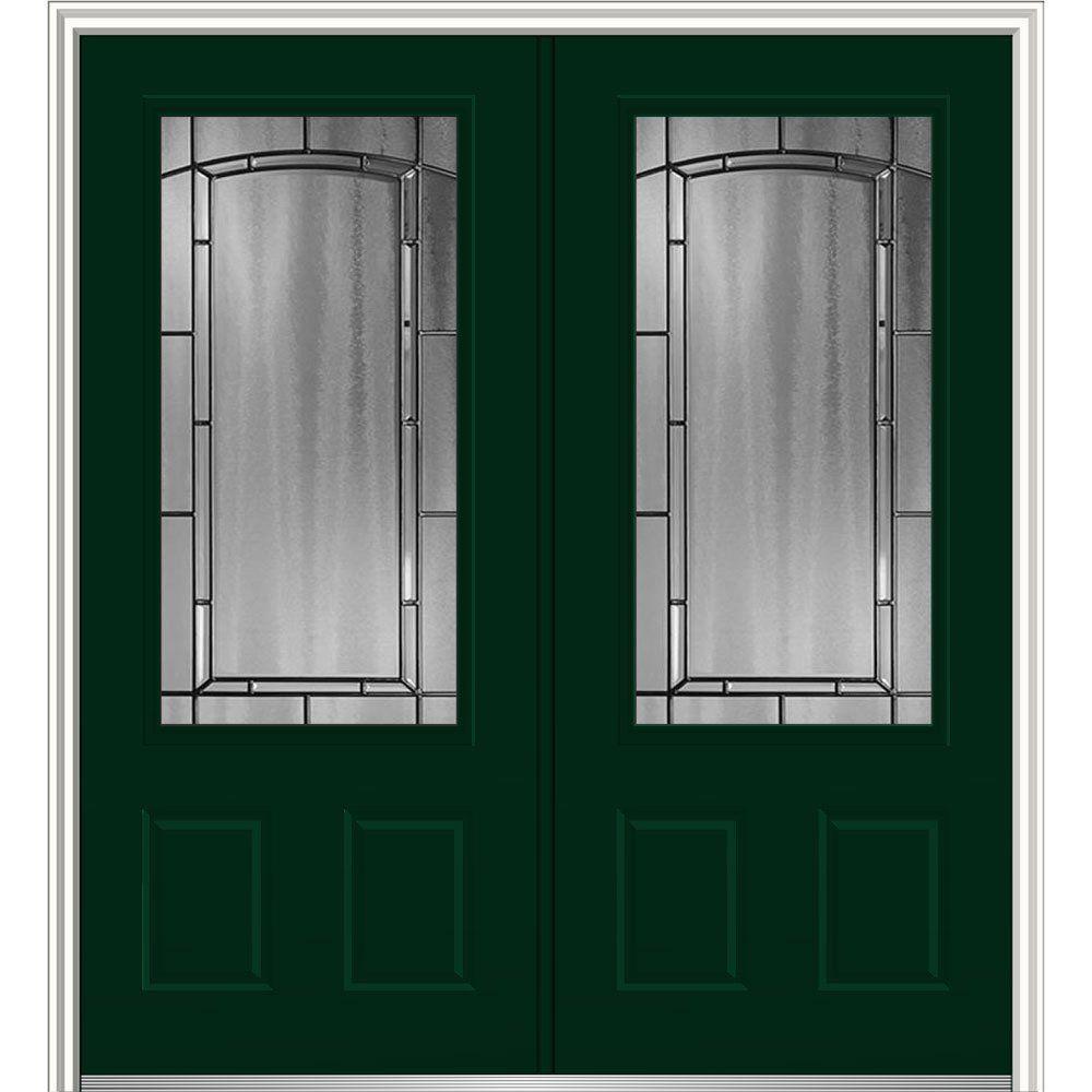 National Door Company Z030132l Steel Hunter Green Left Hand Inswing