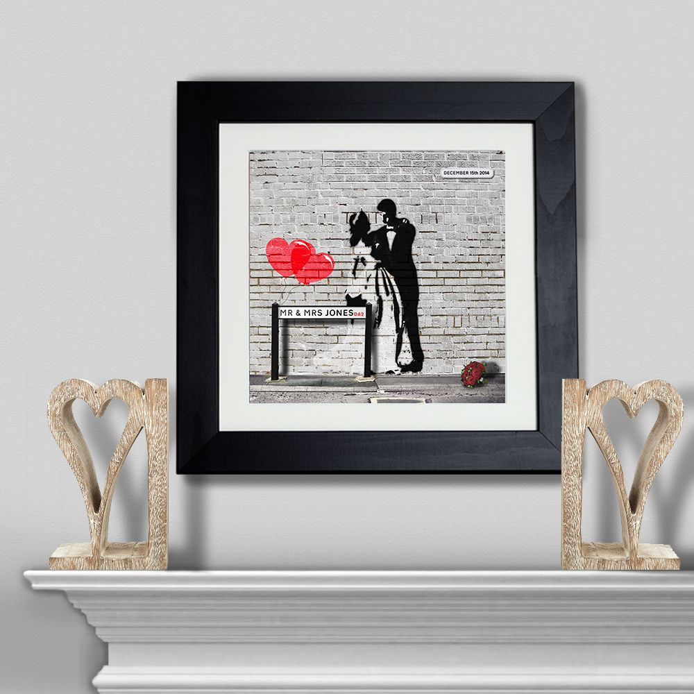 Newly Weds Graffiti u2013 Wedding Gift - Personalised Wall Art form Yoofiti | Made by Yoofiti & Newly Weds Graffiti u2013 Wedding Gift - Personalised Wall Art form ...