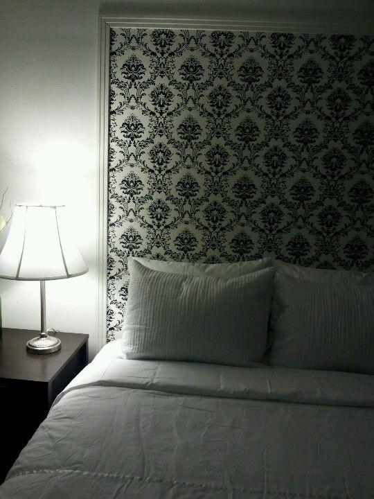 Wallpaper headboard & Wallpaper headboard | For the Home | Pinterest | Wallpaper headboard ...