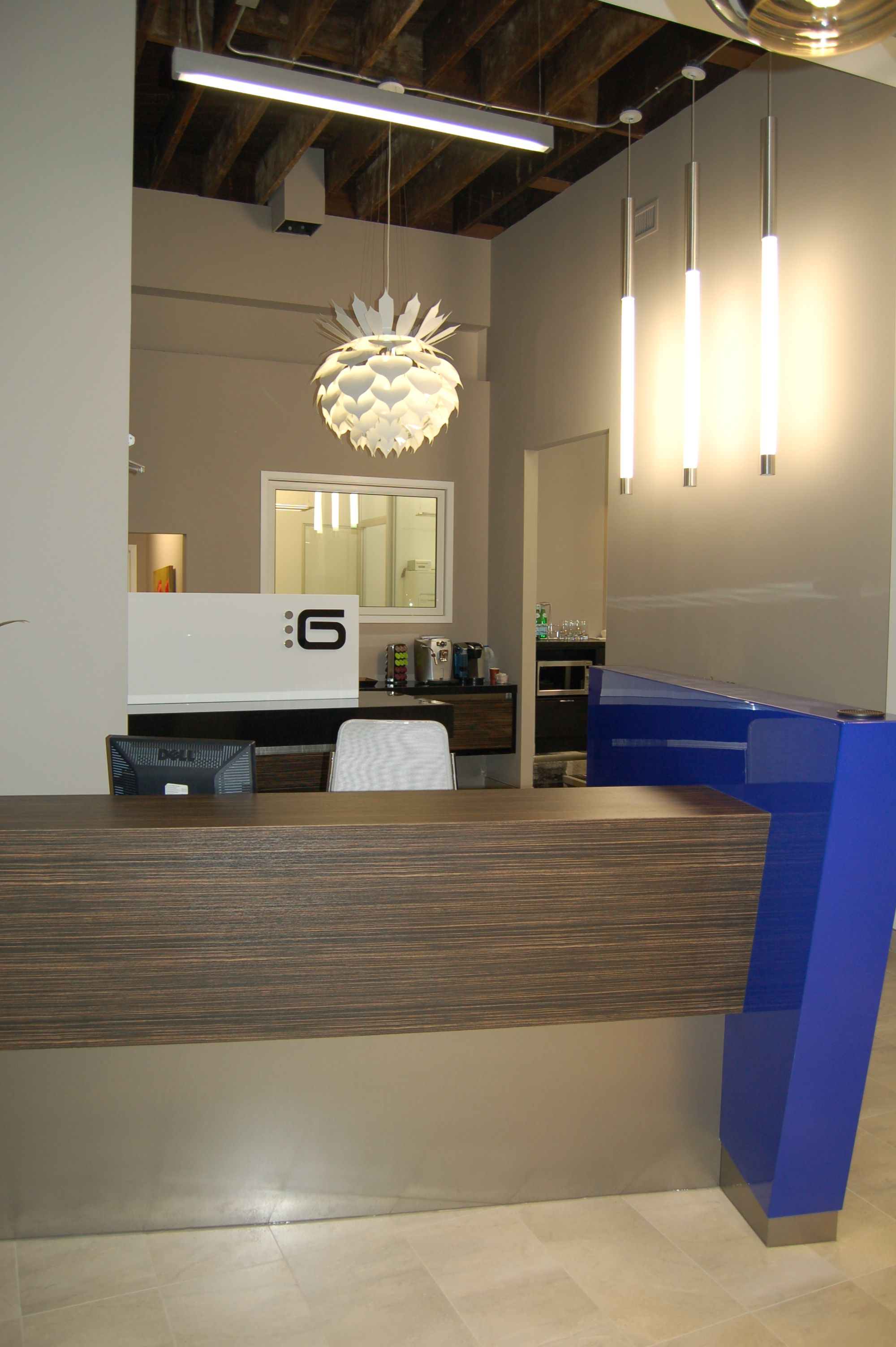 Spi Lighting Fixtures Aspen And Pavo In Office Lobby Image