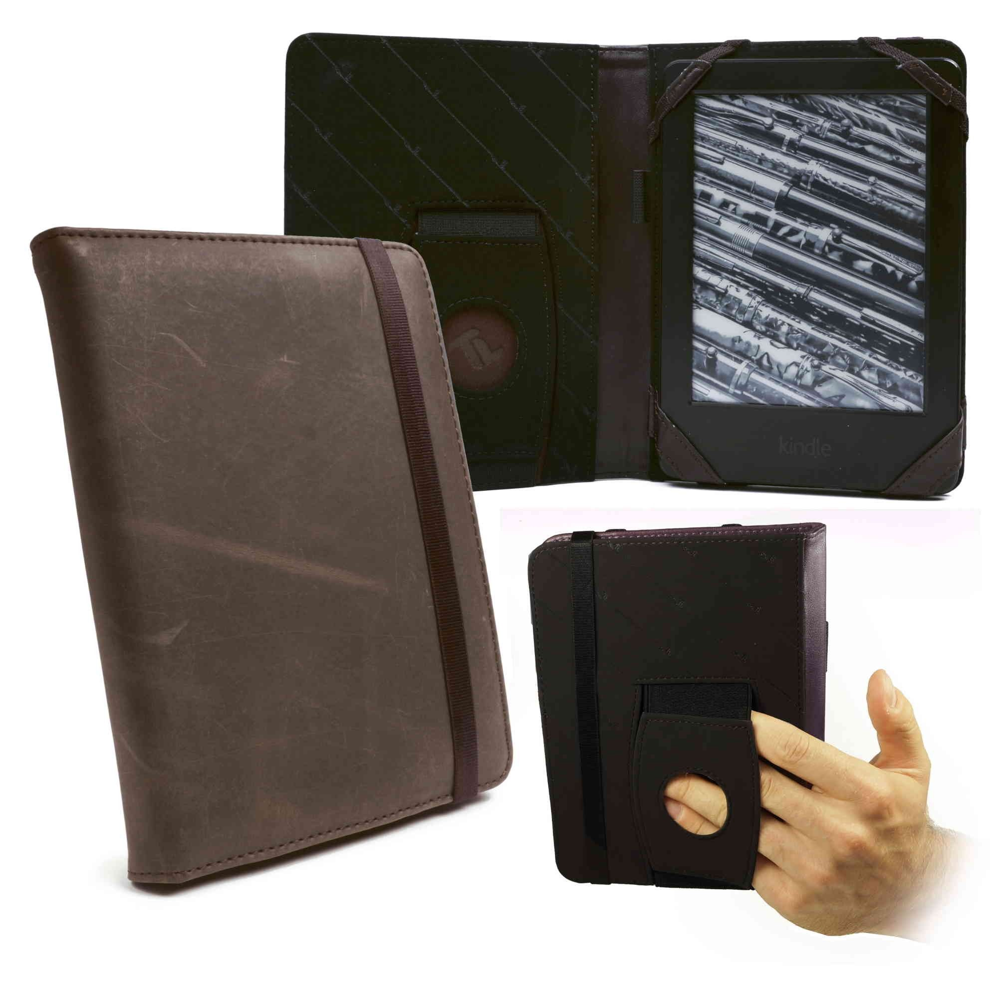 Amazon Kindle Paperwhite leather ereader case in brown | Tuff-Luv