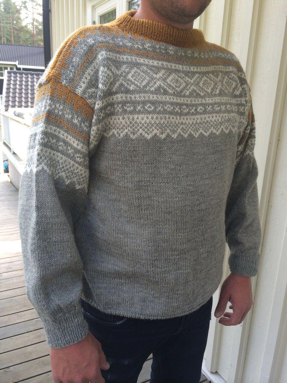 b9b62ab0 Mariusgenser i grå og sennepsgul | Knitting | Genser, Strikk og ...