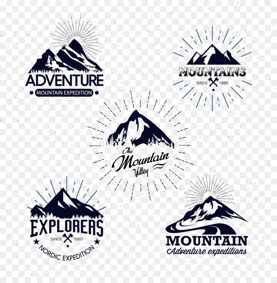 Mountain Logo Icon Hand Painted Black Mountain Icon Mountain Logos Logo Icons Name Card Design