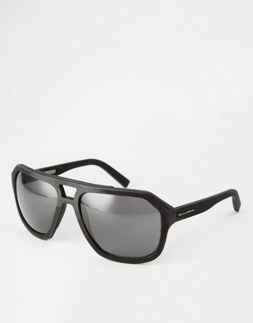 1621d453001b Dolce   Gabbana Flat Brow Aviator Sunglasses EGP) ❤ liked on Polyvore  featuring men s fashion