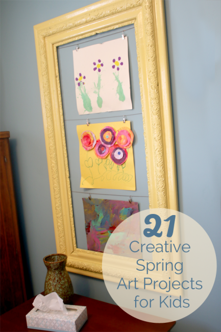 21 Creative And Colorful Spring Art Projects For Kids To Make From Jamie Wise