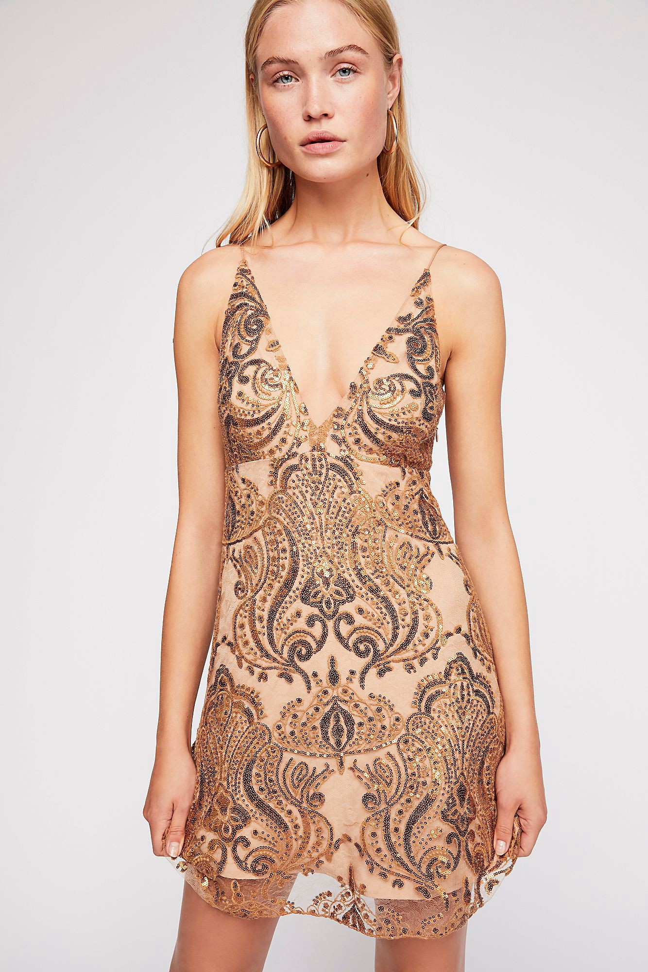 9e1edc10f86c Night Shimmers Mini Dress by Free People in 2019 | Products ...