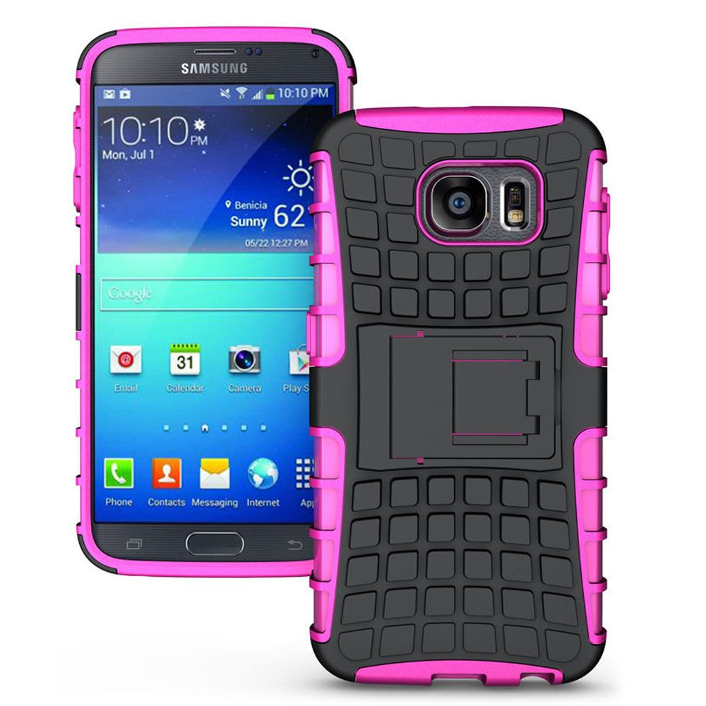 Samsung Galaxy S6 TPU Slim Rugged Hybrid Stand Case Cover Pink #UnbrandedGeneric