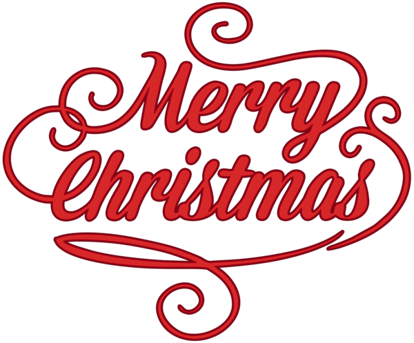Merry Christmas Red Transparent PNG Clip Art Clip art