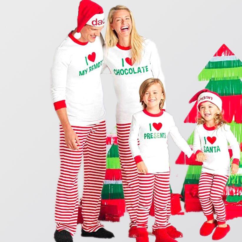 I Heart\u2026 Christmas Family Pajamas Matching Family Pajamas