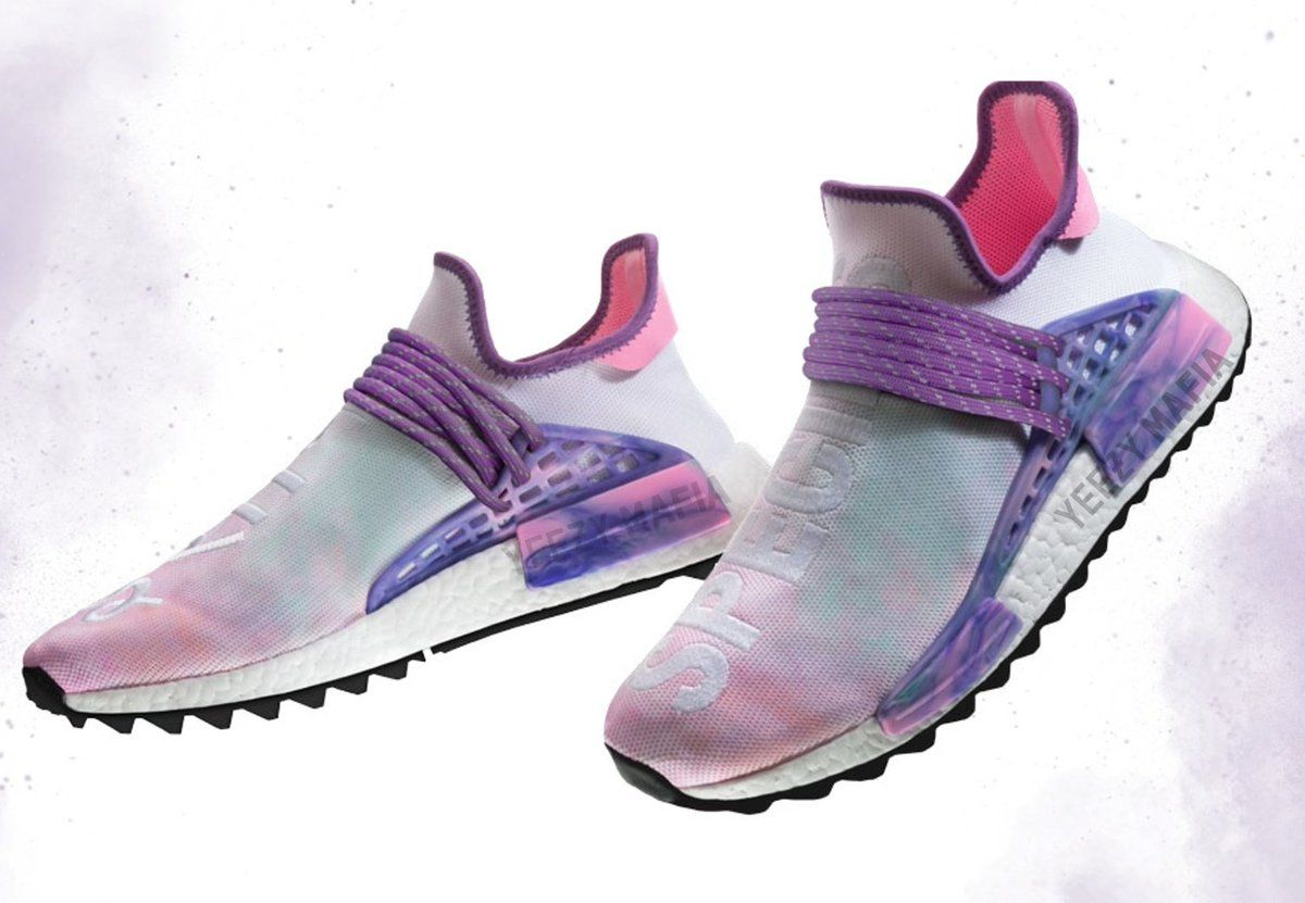 ea14a0a4533b4 The Pharrell x adidas NMD Hu Trail is coming in new Blank Canvas and Holi  colorways in 2018.