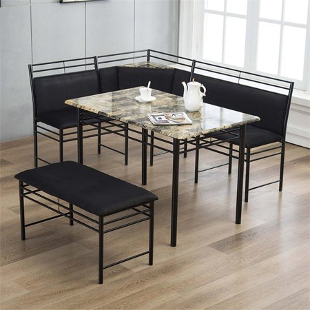 Gareth Breakfast Nook Dining L-Chair & Bench - Walmart.com | Nook