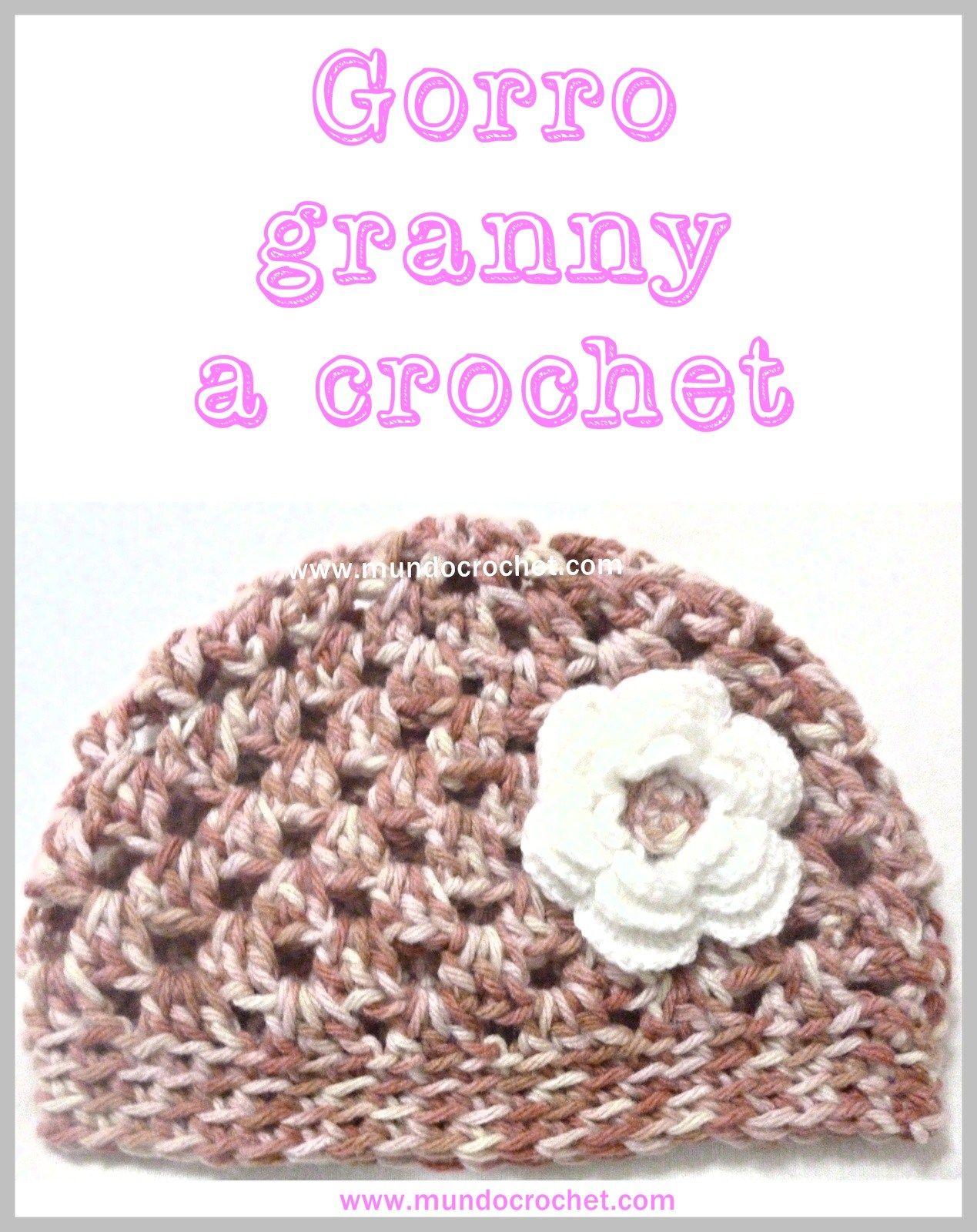 Patron gorro granny a crochet o ganchillo | Bebe- punto | Pinterest ...