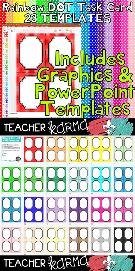 Task card temples rainbow dot includes powerpoint file rainbow dot style includes graphics and a powerpoint template that is super easy to use teacherkarma toneelgroepblik Choice Image