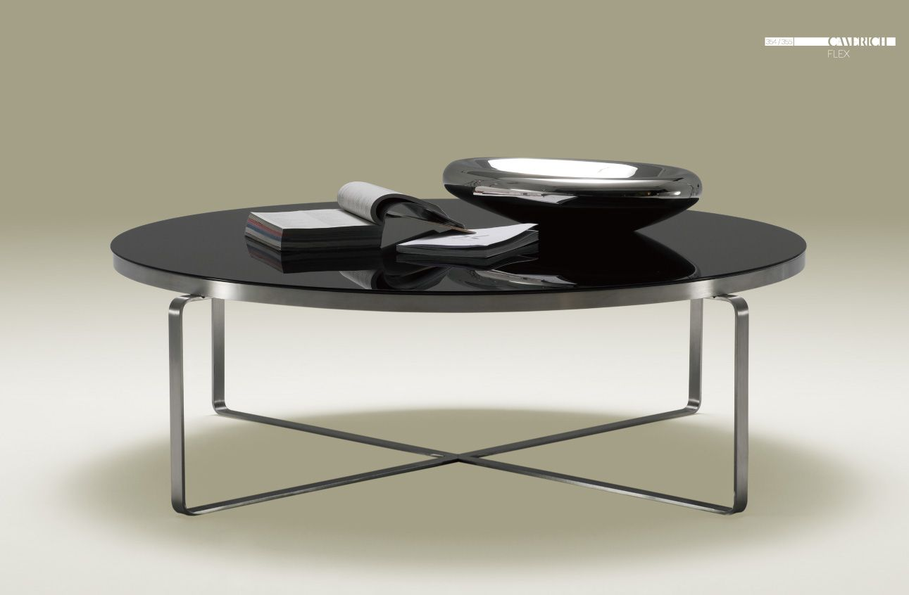 Round black glass coffee table - 17 Best Images About Camerich Chrome On Pinterest Armchairs Furniture And Side Tables Black Painted Coffee Tables