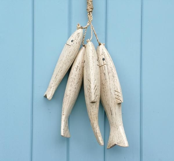 Coastalhome Interior Design: Hand Carved Painted Wooden Fish