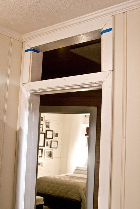 How to add a transom above an existing door frame For the Home