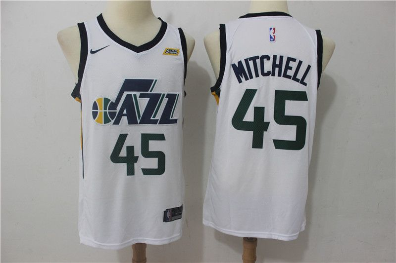 a4ecaddcfd5 ... awesome site for shopping 2b820 11655 Nike NBA Utah Jazz 45 Donovan  Mitchell Jersey 2017 18 ...