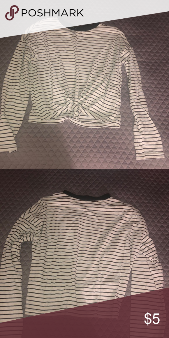 451e85a6d180f Forever 21   striped long-sleeve shirt Black and white Forever 21 Tops Tees  - Long Sleeve