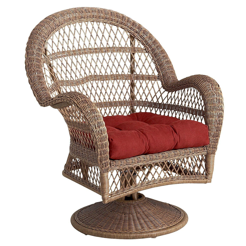 Santa Barbara Light Brown Swivel Rocking Chair Outdoor Rocking