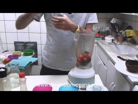 Salsa de tomate sin cocción y alcalina