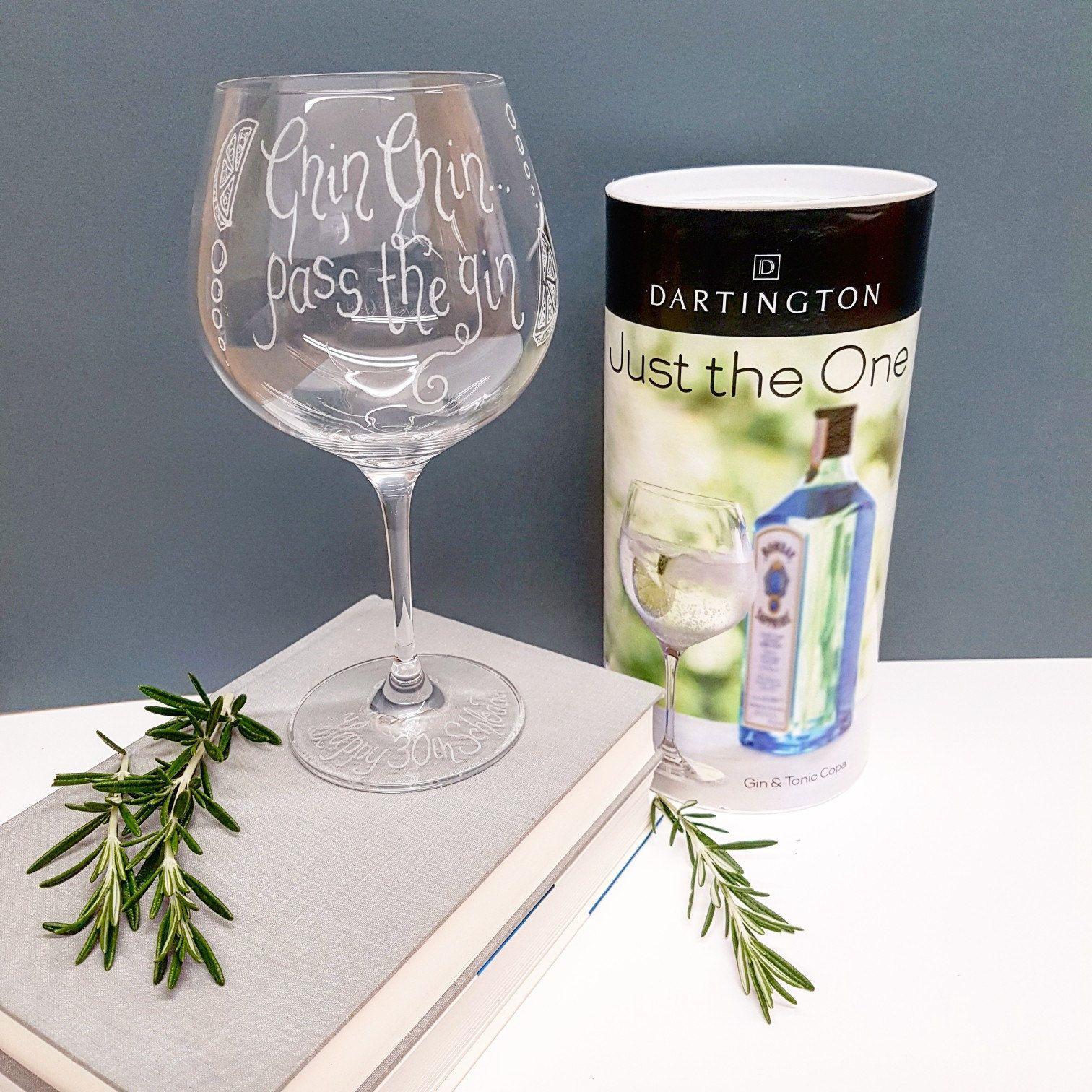 Etsy Gin Glasses Engraved