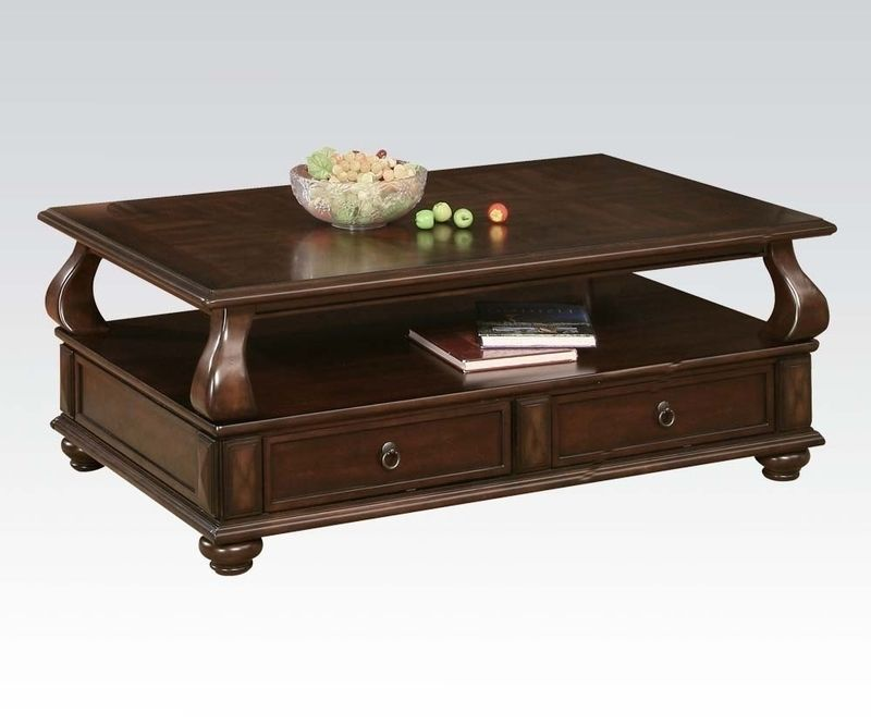 Acme Furniture Coffee Table  W/P2   Walnut Finish Amado Collection 80010  Table