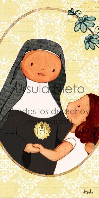 Santa Candida Maria De Jesus Cuadros De Virgencitas Angelitos Y Santos Ursulanieto Ilustraciones Infantiles Religiosas Candida Saints Santa