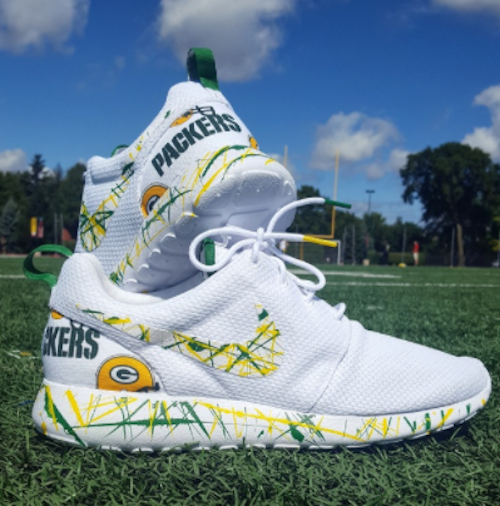 new style bb308 c9333 Green Bay Packers Shoes -Nike Roshe One Custom  Green Bay  Edition