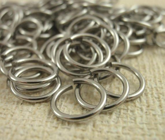 Handmade Jump Rings 100 Nickel Free Stainless Steel Jump Rings Your Choice Of Gauge And Diameter With Images Rings Jump Rings Basic Jewelry