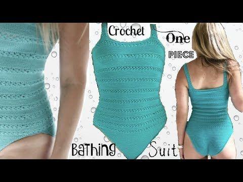 9dd4686a4b One Piece Crochet Bathing Suit - YouTube | Crochet Bikini / Shorts ...